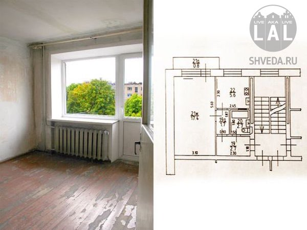 Удобно расположенная однокомнатная квартира вблизи от центра Калининграда - продается